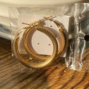 Gold fashion hoops